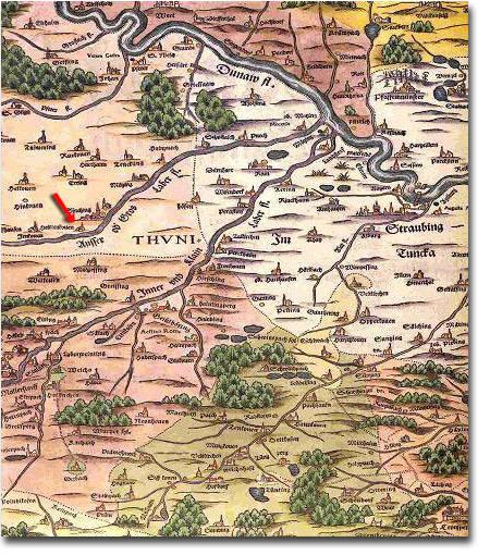 Alte Karte von Haidenkofen und Umgebung