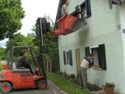 Fensterladen-Montage Vereinshaisl